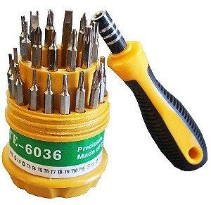 kit de Chaves de Precisão com 31 Peças - TE-6039