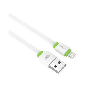 Cabo USB Lightning 2.0A 1m Branco, C3TECH CB-110WH