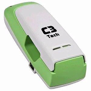 Carregador para 2 Pilhas Alcalinas Recarregáveis USB, C3TECH UC-CHG