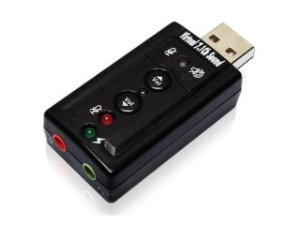 Conversor USB para Som Virtual 7.1, COMTAC - 9081