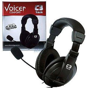 Fone Headset com Microfone Voicer Confort Preto, C3TECH - MI-2260ARC