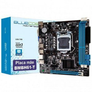Placa Mãe 1155 2ª/3ª Geração DDR3, BLUECASE BMBH61-T (VGA/HDMI/2xUSB 2.0/1000/16GB) (OEM)