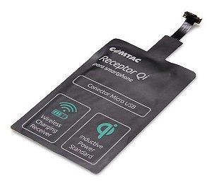 Receptor de Carregador Micro USB sem Fio, COMTAC - 9353
