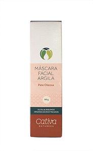 Máscara Facial Argila - Pele Oleosa 80g - Cativa Natureza