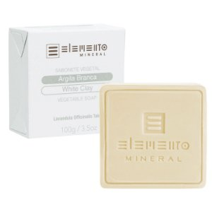 Sabonete  Vegetal Argila Branca  100g  -  Elemento Mineral