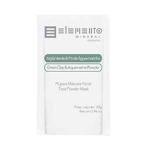Sachê Argila Verde & Pó de Água-marinha  30g  -  Elemento Mineral