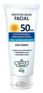 Protetor Solar Facial  FPS 50  60gr  -  Flores e Vegetais
