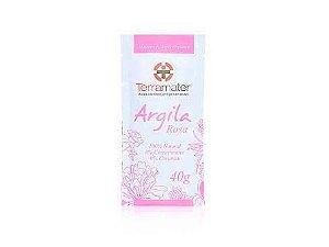 Argila Orgânica Rosa  Elasticidade  -  Terramater  -  40g
