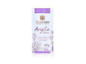 Argila Orgânica Roxa  Rejuvenescimento  -  Terramater  -  40g