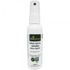 Spray Bucal Natural  e Vegano Aloe Lippia   - 60ml -  Livealoe
