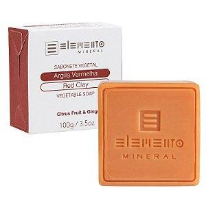 Sabonete Vegetal Argila Vermelha   - 100g -  Elemento Mineral