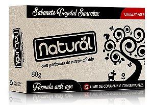 Sabonete Vegetal Natural e Vegano com Carvão Ativado  80g   Contente