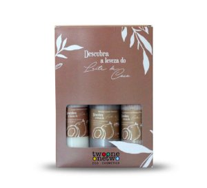 Kit Tropical Beauty Leite de Côco Loção,  Esfoliante,  Sabonete Líquido  120ml  Twoone Onetwo