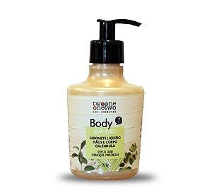 Sabonete Líquido Mãos e Corpo Calêndula Natural e Vegano  250g  -  Twoone Onetwo