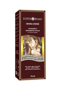 HENNA CREME Tintura Cinza Prateado 70ml - Surya Brasil