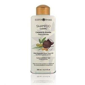 Shampoo Coco e Ucuuba com Óleo Orgânico de Capim Limão - Cabelos Cacheados e Étnicos 300ml - Surya Brasil