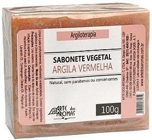Sabonete Argila Vermelha com Manteiga de Cupuaçu e Óleos de Babaçu e Girassol 100g - Arte dos Aromas