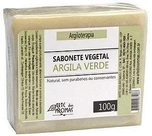 Sabonete Argila Verde com Menta, Capim Limão e Manteiga de Cupuaçu 100g - Arte dos Aromas