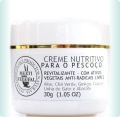 Creme Nutritivo para Pescoço - Revitalizante - 30g - Multi Vegetal