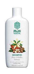 Shampoo de Nogueira, Cacau e Baunilha - Cabelos Escuros 250ml - Multi Vegetal