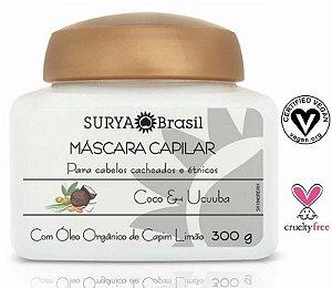Máscara Capilar Coco e Ucuuba com Óleo Orgânico de Capim Limão - Cabelos Cacheados 300g - Surya