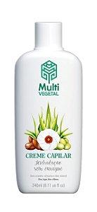 Creme Capilar de Oliva com Argan, Aloe e Hibisco - Cabelos Secos e Cacheados 240ml - Multi Vegetal