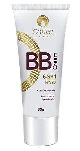 BB Cream 6 em 1 FPS 20 - Multiuso 30g - Cativa Natureza