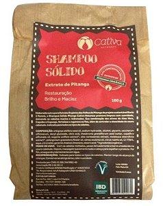 Shampoo Sólido de Pitanga com Aloe Vera, Copaíba e Cupuaçu 100g - Cativa Natureza