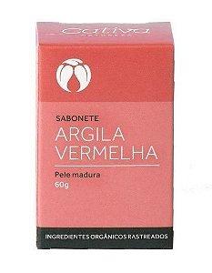 Sabonete Argila Vermelha com Lavanda, Patchouli e Tangerina - Pele Madura 60g - Cativa Natureza
