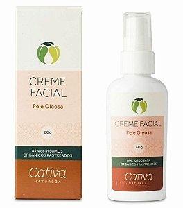 Creme Hidratante Facial Pele Oleosa com Copaíba, Camomila e Aloe Vera 60g - Cativa Natureza
