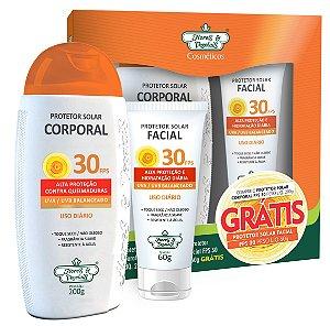 Kit Protetor Solar Corporal FPS 30 200g + Protetor Solar Facial FPS 30 60g - Flores e Vegetais