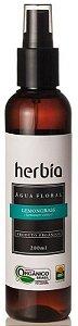 Água Floral Orgânica de Lemongrass - Capim Limão 200ml - Herbia