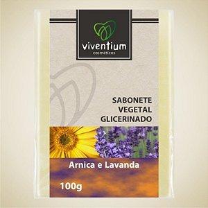 Sabonete Vegetal Glicerinado Arnica e Lavanda 100g - Viventium