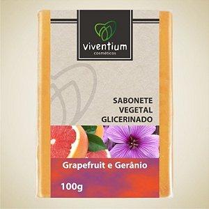 Sabonete Vegetal Glicerinado Grapefruit e Gerânio 100g - Viventium
