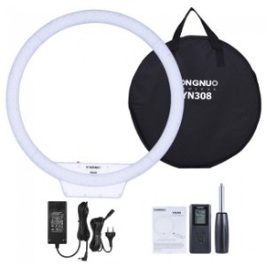 ILUMINADOR LED RING LIGHT YONGNUO YN308 COM FONTE