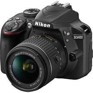 NIKON D3400 KIT COM LENTE AF-P 18-55 VR