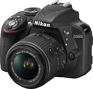NIKON D3300 C/ LENTE 18-55MM VR