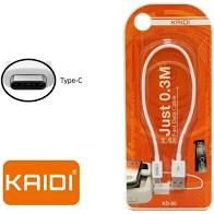 Short Cable Type-c 2.4a Cabo 30cm Kaidi KD-52