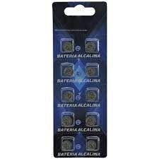 Bateria AG7 Cartela com 10 Pçs