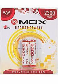 Pilha Mox Recarregavel 2300 mAh 2A com 2 pilhas