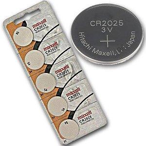 bateria 2025 Maxell cartela com 5 pçs