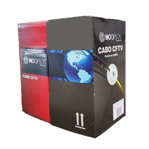 CABO DE REDE CFTV MARCA HOOPSON PRETO 305 MTS