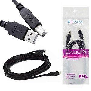 CaboX-Cabo impressora USB 2.0/AM+AF/OD4.8/2M com Filtro
