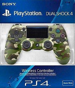 Controle Ps4 Serie Verde Camuflado Playstation 4 Original.