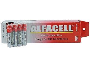 Pilha comum Palito 3a Alfacell tubo com 60 unidades