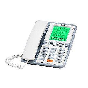 Telefone com fio com display e identificador de chamadas Quanta QTTEL 1004