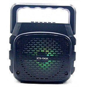 """CAIXA DE SOM USB/SD BLUETOOTH 4"""" FM RECAR. COM ENT. MICR"""