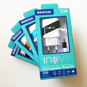 Carregador Turbo Inova In-g41 3.1a - 2 Usb