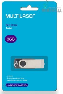 Pendrive multilaser 8 gb twist