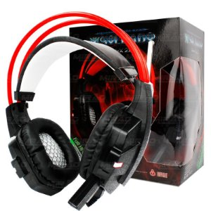 Fone Headset Gamer Microfone C/ Led Usb Gh-x20 Ps4 Xbox Pc